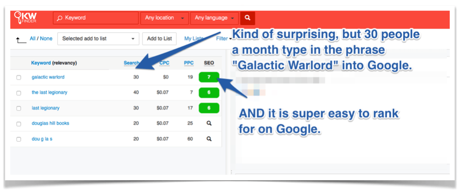 Galactic Warlord Kindle Rankings