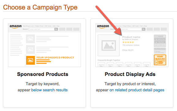03 choose a campaign type product display ads