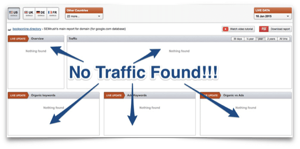 Does a website have traffic? Find out here