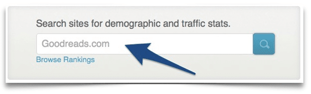 How to find a book sites demographics and traffic stats