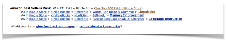 learn about kindle sales rankings and how this effects the Category Selection