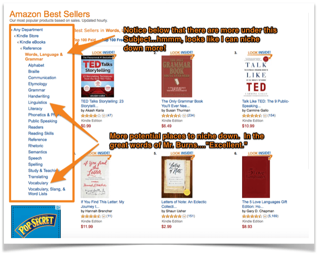 The secret method to choosing amazon book categories in kdp find out how you can make your category more specifc an thus decrease the competition fandeluxe Images