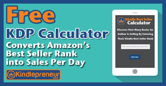 kindle best seller calculator converts amazon sales rank