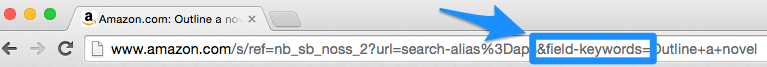 Amazon Search URL anatomy for Keywords