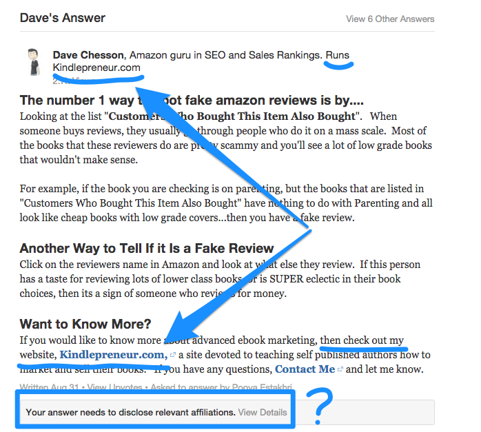 Quora Removal notice that doesn't make sense