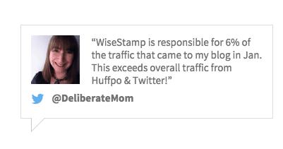 Wisestamp testimonial