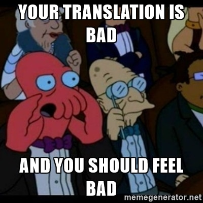 book translation meme