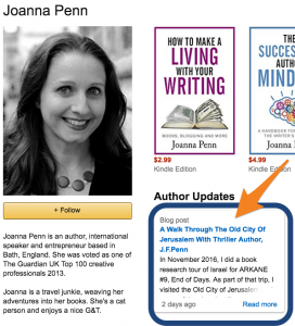 joanna_penn_blog_feed_on_author_page