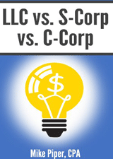 Tax book LLC vs S-Corp