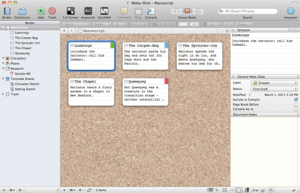 2018 scrivener review scrivener coupon code both mac pc scrivener corkboard view fandeluxe Images