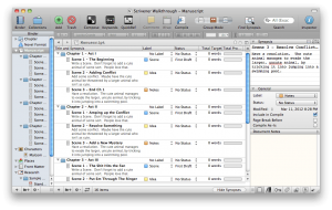 scrivener outliner view