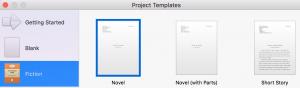 scrivener project templates