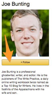 Joe Bunting Follow link on his Author Central page
