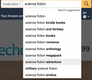 kindle store keyword search