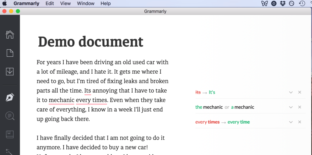 book writing software grammarly