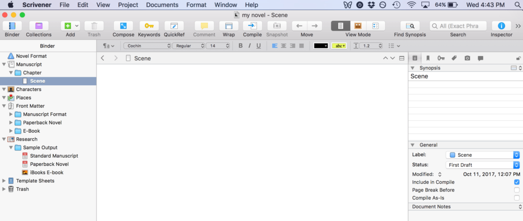Scrivener: A Better Word Processor for Writers