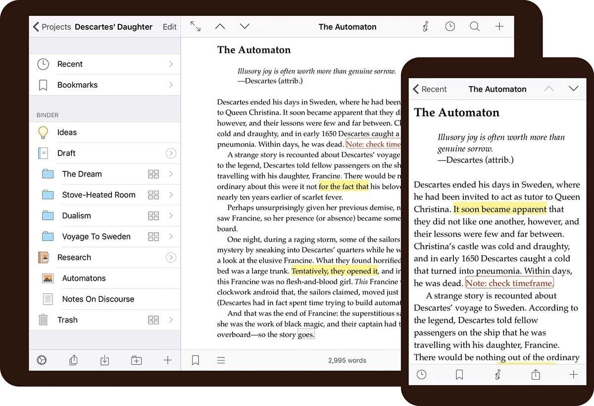 best-writing-app-scrivener