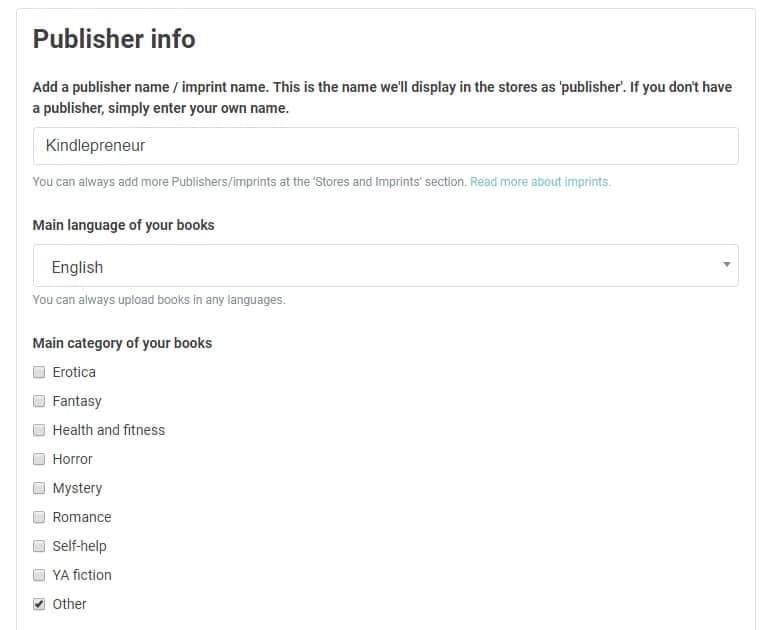Publish Drive Review - Publisher Info