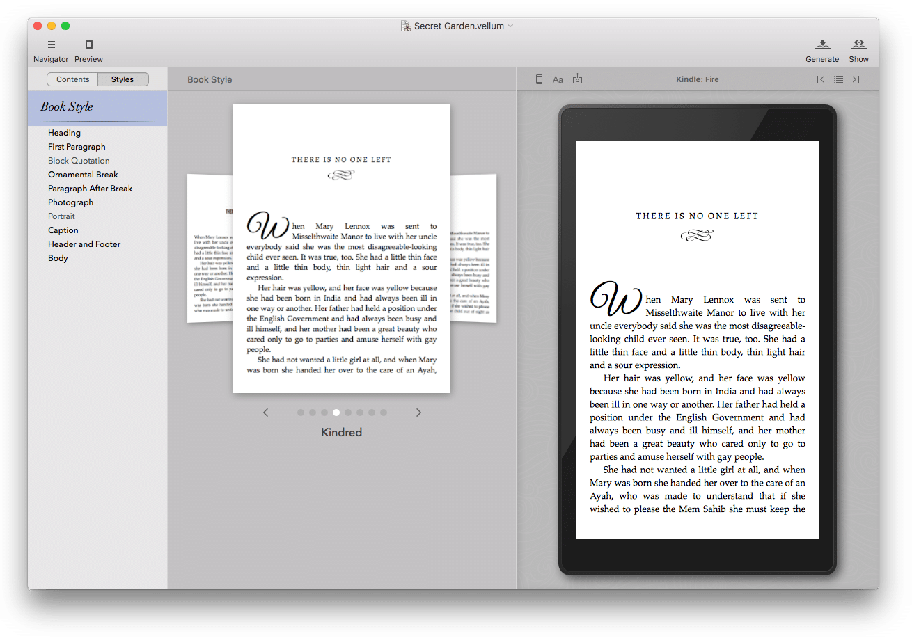 vellum software review style kindred