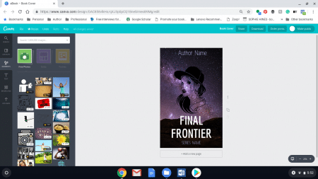 free book cover from Canva