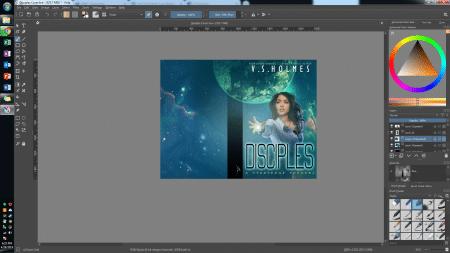 Krita book cover software