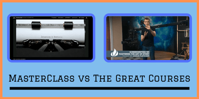 This is a comparison of the great course and Masterclass side by side.