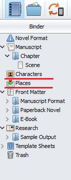 Scrivener sidebar