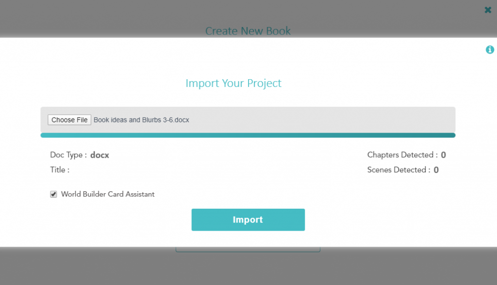 importing with storyshop
