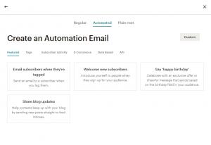mailchimp automation email campaign options