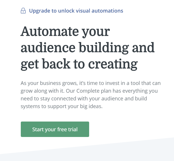 ConvertKit free trial sign up page