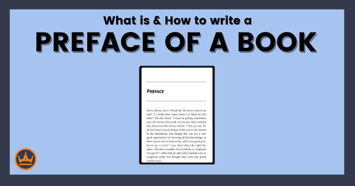 How to write the preface of a book