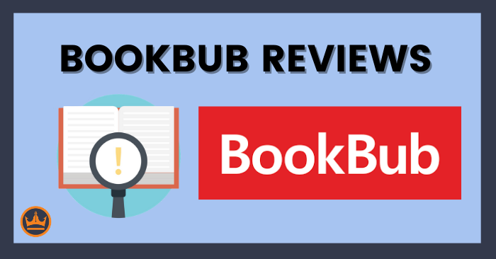 Banner image that says bookbub reviews