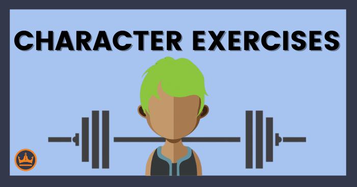 banner image that says character exercises