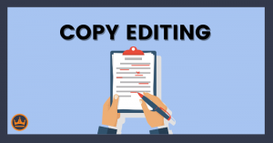 a banner image that says copy editing