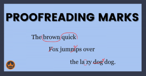 banner that says proofreading marks