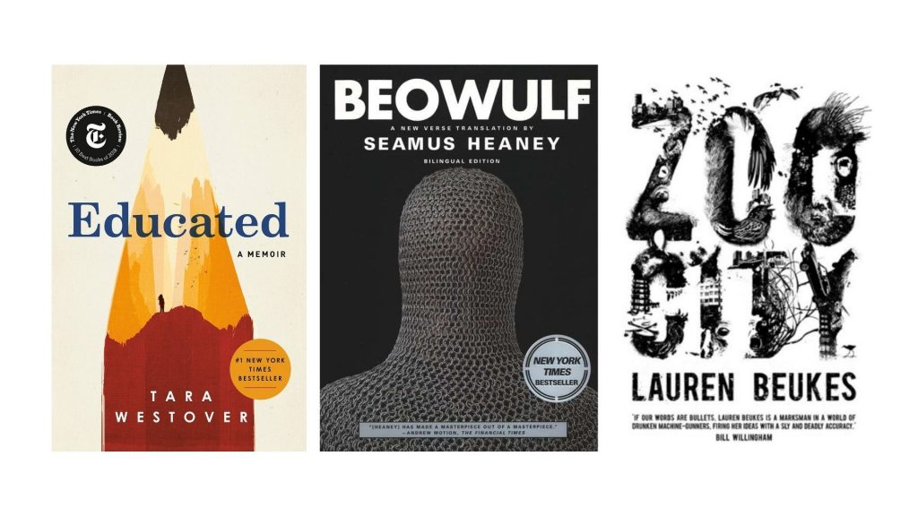 Book covers with awards example