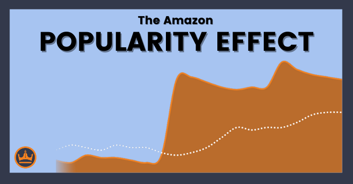 featured image that says amazon popularity effect
