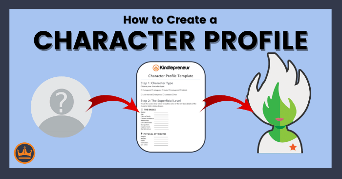 featured image that says how to write a character profile