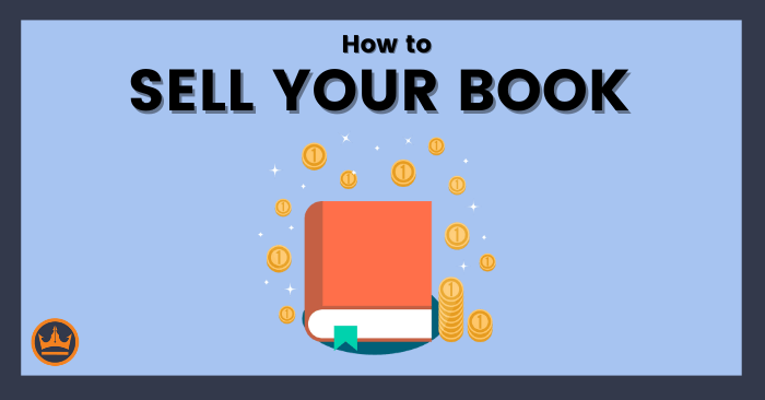 featured image that says how to sell your book