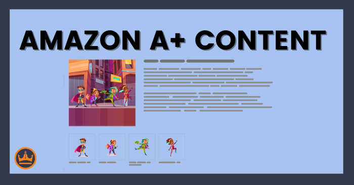 featured image that says amazon A-plus content