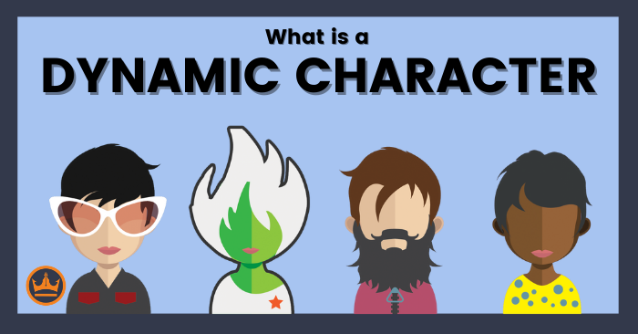 banner image that says what is a dynamic character