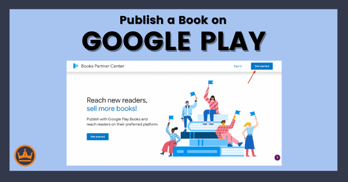 featured image that says publish a book on google play