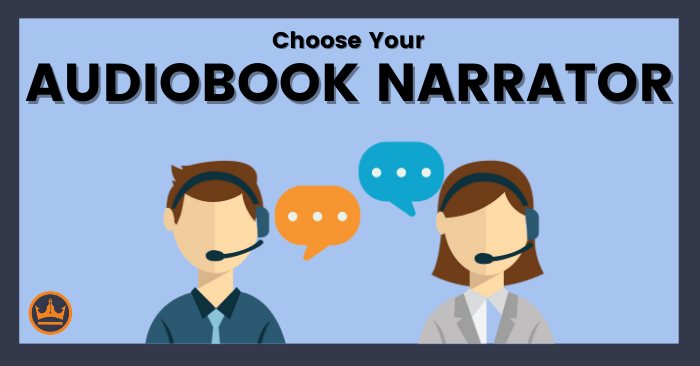 featured image that says choose your audiobook narrator