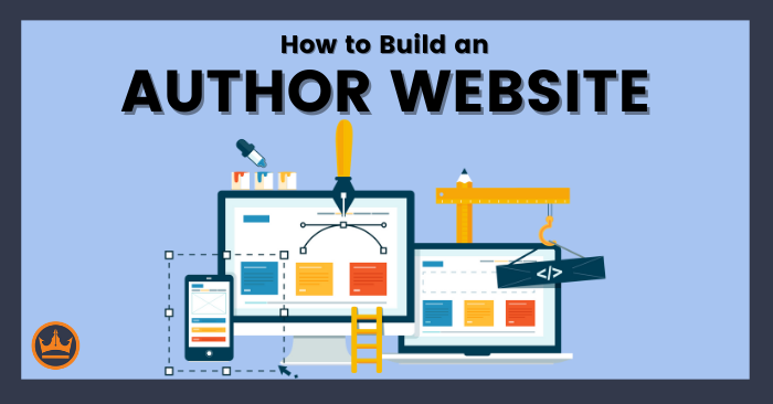 featured image that says how to build an author website